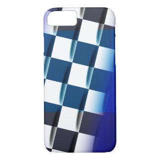 Stylish Checkered on Blue Background iPhone 8/7 Case