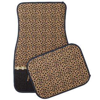 Stylish Cheetah Diamond Pattern   Personalize Car Mat