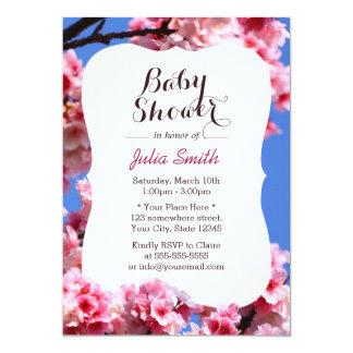 Stylish Cherry Blossom Baby Shower Invitations