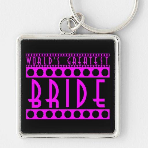 Stylish Chic Brides Gifts World's Greatest Bride Key Chains