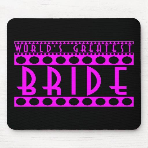 Stylish Chic Brides Gifts World's Greatest Bride Mousepad