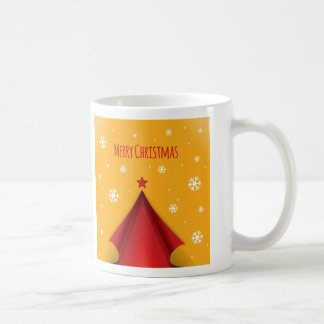 Stylish Christmas design in red and yellow Mugs