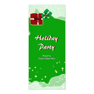 Stylish Christmas holiday party snow gift Personalized Invite