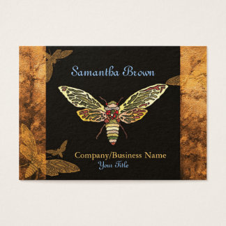 Stylish Cicada Hipster Business Cards
