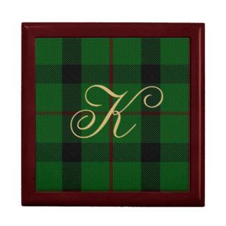 Stylish Clan Kincaid Monogram Keepsake Box