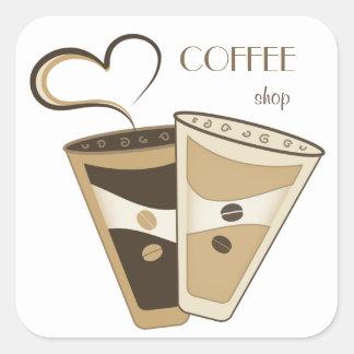 Stylish Coffee Shop Sticker