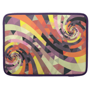 Stylish colorful abstract Art Snail Sleeve For MacBooks