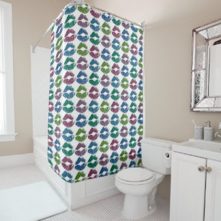 Stylish Colorful Lips #10 Shower Curtain
