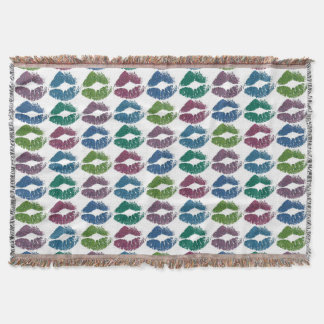 Stylish Colorful Lips #10 Throw Blanket