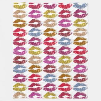 Stylish Colorful Lips #11 Fleece Blanket