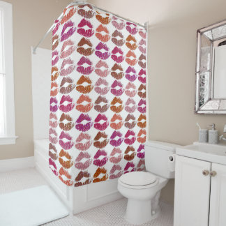 Stylish Colorful Lips #12 Shower Curtain