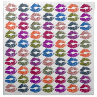 Stylish Colorful Lips #13 Napkin