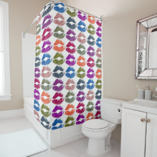 Stylish Colorful Lips #13 Shower Curtain