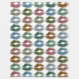 Stylish Colorful Lips #15 Fleece Blanket