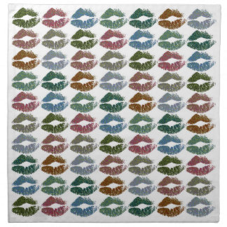 Stylish Colorful Lips #15 Napkin