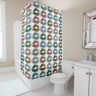 Stylish Colorful Lips #15 Shower Curtain