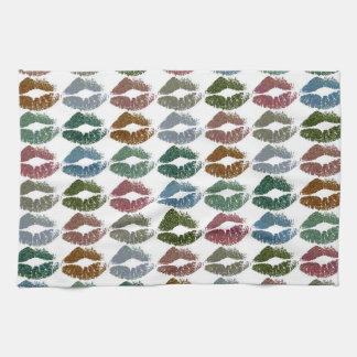 Stylish Colorful Lips #15 Tea Towel