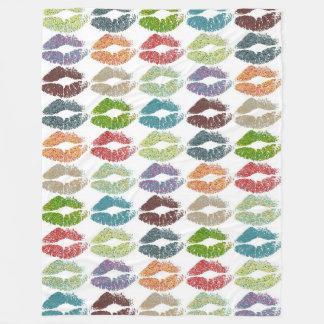 Stylish Colorful Lips #16 Fleece Blanket