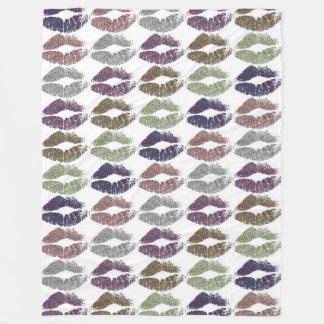 Stylish Colorful Lips #19 Fleece Blanket