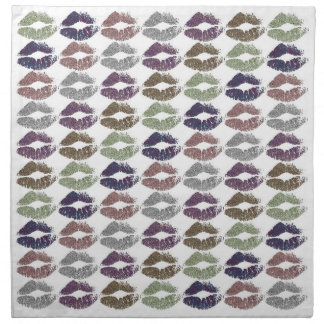 Stylish Colorful Lips #19 Napkin