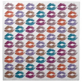 Stylish Colorful Lips #20 Napkin