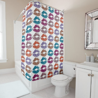 Stylish Colorful Lips #20 Shower Curtain