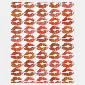 Stylish Colorful Lips #21 Fleece Blanket