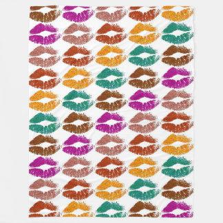 Stylish Colorful Lips #22 Fleece Blanket