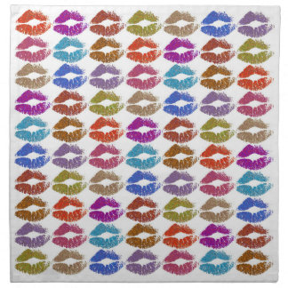 Stylish Colorful Lips #24 Napkin