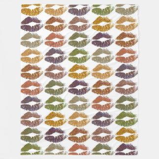 Stylish Colorful Lips #25 Fleece Blanket