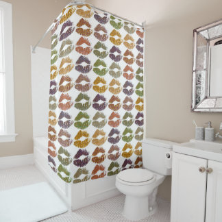 Stylish Colorful Lips #25 Shower Curtain