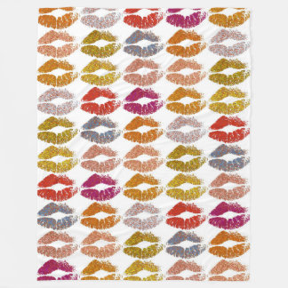 Stylish Colorful Lips #26 Fleece Blanket