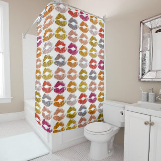 Stylish Colorful Lips #26 Shower Curtain