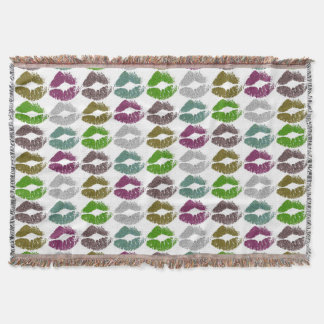 Stylish Colorful Lips #2 Throw Blanket