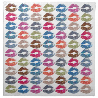 Stylish Colorful Lips #30 Napkin
