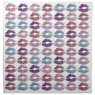 Stylish Colorful Lips #31 Napkin