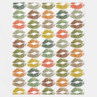 Stylish Colorful Lips #32 Fleece Blanket