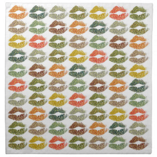 Stylish Colorful Lips #32 Napkin