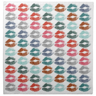 Stylish Colorful Lips #33 Napkin