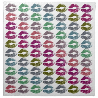 Stylish Colorful Lips #34 Napkin
