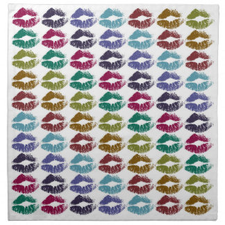 Stylish Colorful Lips #35 Napkin