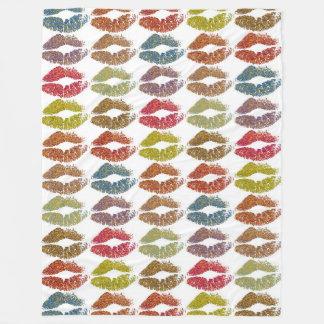 Stylish Colorful Lips #38 Fleece Blanket