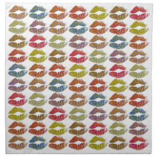 Stylish Colorful Lips #38 Napkin