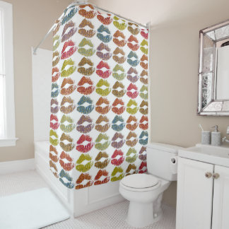 Stylish Colorful Lips #38 Shower Curtain