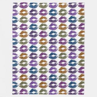Stylish Colorful Lips #3 Fleece Blanket