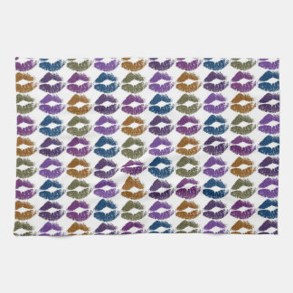 Stylish Colorful Lips #3 Tea Towel