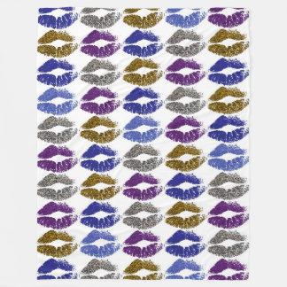 Stylish Colorful Lips #40 Fleece Blanket