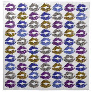 Stylish Colorful Lips #40 Napkin