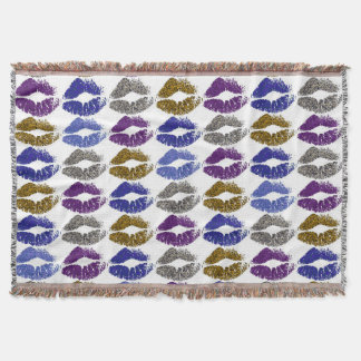 Stylish Colorful Lips #40 Throw Blanket