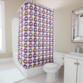Stylish Colorful Lips #4 Shower Curtain